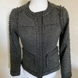 Rebecca Taylor distressed cropped jacket